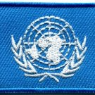 United Nations UN flag sew sewing applique iron-on patch new Medium S-766