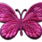 Butterfly hippie pink applique iron-on patch S-170