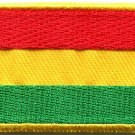 Flag of Bolivia Bolivian South America Peru applique iron-on patch Medium S-814