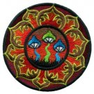 Mushroom boho hippie retro love peace weed trance applique iron-on patch T-21