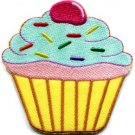 Cupcake snack fairy cake sweets retro disco fun applique iron-on patch new S-205