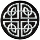 Celtic knot Irish goth biker tattoo wicca magic applique iron-on patch new S-599
