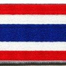 Flag of Thailand Thai Bangkok Siam Siamese applique iron-on patch Medium S-106
