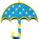 Umbrella brolly bumbershoot canopy gamp sunshade applique iron-on patch S-555