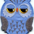 Owl bird of prey hoot animal wildlife applique iron-on patch new S-330