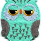 Owl bird of prey hoot animal wildlife applique iron-on patch new S-329