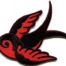 Bird tattoo swallow dove swiftlet sparrow applique iron-on patch Small S-665