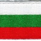 Flag of Bulgaria Bulgarian europe applique iron-on patch new Medium S-764