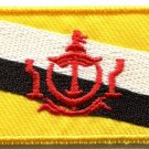 Flag of Brunei Bruneian abode of peace applique iron-on patch new Medium S-763