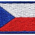 Flag of Czech Republic Czechoslovakia sew applique iron-on patch Small S-1007