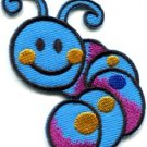 Caterpillar worm insect bug retro kids fun applique iron-on patch new S-701