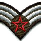 Army navy military insignia rank war biker retro applique iron-on patch S-704