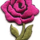 Pink rose tattoo biker love retro boho sew sewing applique iron-on patch S-518