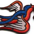 Bird cherries tattoo applique iron-on patch new S-292