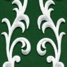 White trim fringe boho art deco sew embellishment applique iron-on patch S-711