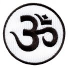 Aum om infinity hindu hindi hinduism yoga indian applique iron-on patch new S-2