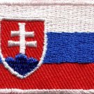 Flag of Slovakia Slovak Republic Europe applique iron-on patch new Med. S-843