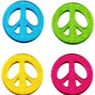 Lot of 4 peace sign retro boho hippie love weed flower power iron-on patches P-1