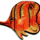 Angelfish fish orange applique iron-on patch new S-222