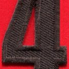 Number 4 numeral math counting four school applique iron-on patch new S-949