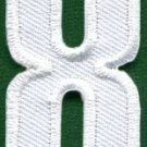 Number 8 numeral math counting eight school applique iron-on patch new S-943