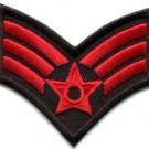 Army military insignia rank war biker retro applique iron-on patch new S-523