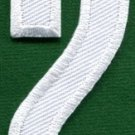 Number 2 numeral math counting two school applique iron-on patch new S-937