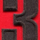 Number 3 numeral math counting three school applique iron-on patch new S-948