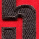 Number 5 numeral math counting five school applique iron-on patch new S-950