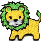 Lion cat puma jaguar tiger cheetah animal cute kids applique iron-on patch S-743