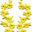 Yellow flowers floral boho granny chic applique iron-on patches pair new S-752