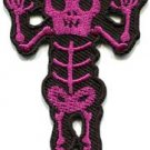 Skull skeleton goth punk emo horror biker sew applique iron-on patch new S-811