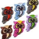 Lot of 6 owl bird of prey hoot animal wildlife applique iron-on patches new
