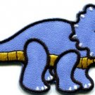 Triceratops Cretaceous dinosaur lizard kids fun applique iron-on patch new S-332