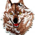 Wolf wolves biker retro applique iron-on patch sm S-236