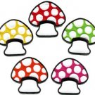 Lot of 5 mushroom boho hippie retro love peace weed applique iron-on patches new