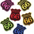 Lot of 6 Route 66 retro muscle cars americana USA appliques iron-on patches L-3