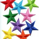 Lot of 9 star hippie 70's retro disco fab superstar applique iron-on patches new
