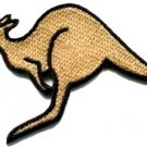 Kangaroo australia roo boomer marsupial animal applique iron-on patch new S-603