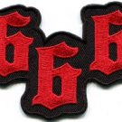666 number of the beast satanic demonic occult applique iron-on patch new S-1076
