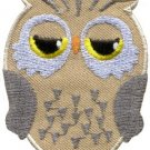 Owl bird of prey hoot animal wildlife applique iron-on patch new S-596