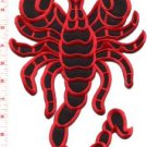 Scorpion biker tattoo Muay Thai applique iron-on patch BIG XL 7.63 x 11 in S-233