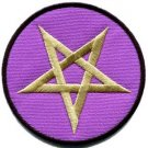 Pentacle pentagram magic wicca goth witchcraft applique iron-on patch new S-1058