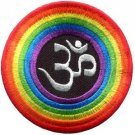 Aum om infinity hindu hinduism yoga rainbow LGBT applique iron-on patch S-1060