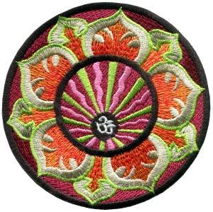 Aum om infinity hindu hinduism yoga indian trance applique iron-on patch S-1061