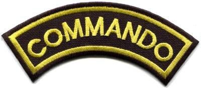 Commando elite infantry military war biker retro applique iron-on patch S-1071