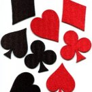 Lot 8 playing cards suits diamonds spades clubs poker applique iron-on patches