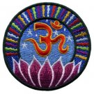 Aum om infinity hindu hinduism yoga indian trance applique iron-on patch new T-1