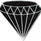 Black diamond gemstone carat retro jewelry applique iron-on patch new S-798