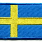 Flag of Sweden Swedish Europe swedes nordic applique iron-on patch new S-97